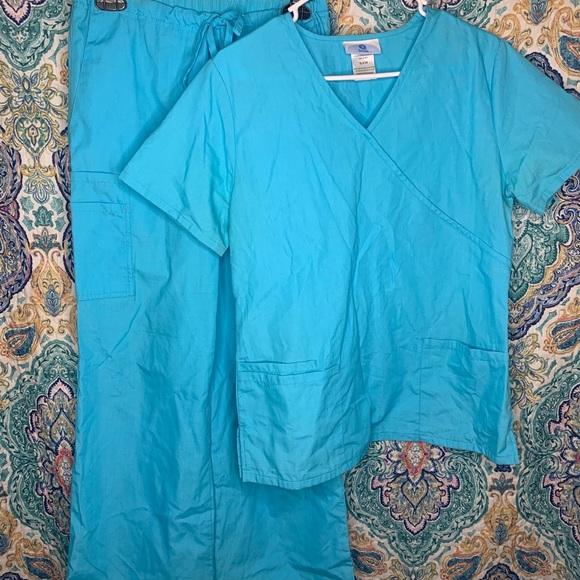 Light blue scrubs